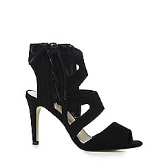 Red Herring - Black caged high sandals