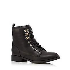 Red Herring - Black lace up ankle boots