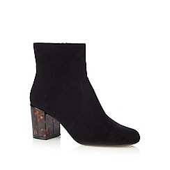Red Herring - Black high block heel ankle boots