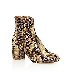 Red Herring - Brown snakeskin-effect ankle boots