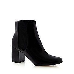 Red Herring - Black patent high ankle boots