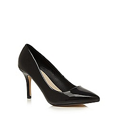 Red Herring - Black pointed wide fit court shoes