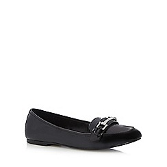 The Collection - Black patent loafer