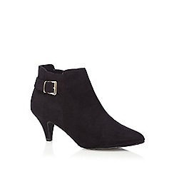The Collection - Black buckled low ankle boots