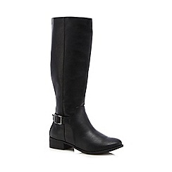 The Collection - Black calf length boots