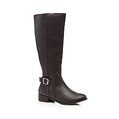 The Collection - Dark brown calf length boots