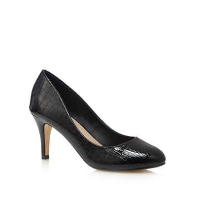 the collection black high stiletto heel court shoes