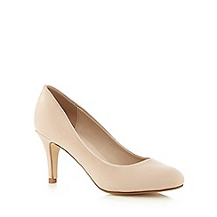 The Collection - Nude patent high court shoes