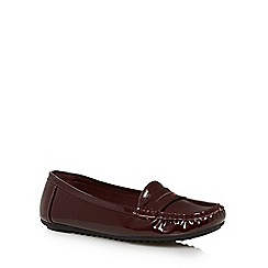 The Collection - Dark red patent loafers