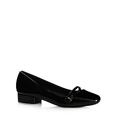 The Collection - Black patent low heel shoes