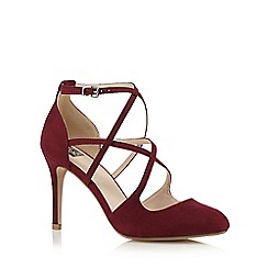 The Collection - Dark red strappy high court shoes