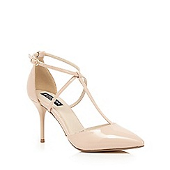 Principles by Ben de Lisi - Light pink patent T-bar high court shoes