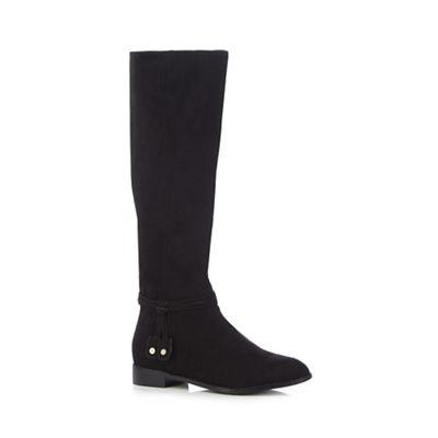 principles by ben de lisi black flat knee high boots