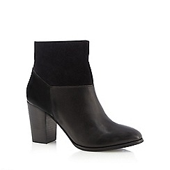 Principles by Ben de Lisi - Black block heel leather ankle boots