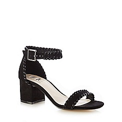 Nine by Savannah Miller - Black 'Sara' stitched high sandals