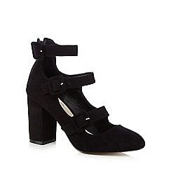 Nine by Savannah Miller - Black 'Sinead' buckle strap high court shoes