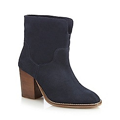 Nine by Savannah Miller - Navy suede ankle boots