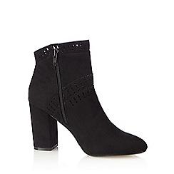 Nine by Savannah Miller - Black cut-out high boots