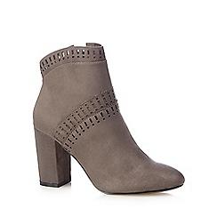 Nine by Savannah Miller - Grey suede high block heel ankle boots