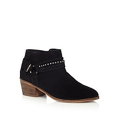 Nine by Savannah Miller - Black suede ankle boots