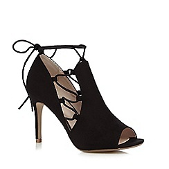 Nine by Savannah Miller - Black lace up peep toe high court shoes