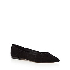 Nine by Savannah Miller - Black cut-out flat pointed toe shoes