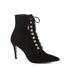 Nine by Savannah Miller - Black lace up high ankle boots