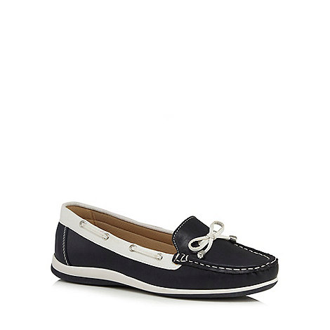 Good for the Sole - Navy wide fit boat shoes