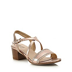 Good for the Sole - Cream mid heel wide fit sandals