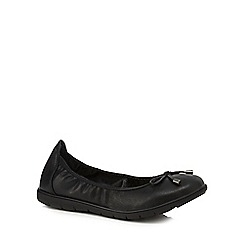 Good for the Sole - Black 'Georgina' wide fit pumps