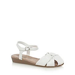 Good for the Sole - White 'Gilda' wide fit ankle strap sandals