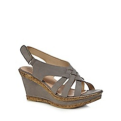 Good for the Sole - Grey 'Gillian' high heel wide fit sandals