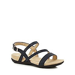 Good for the Sole - Navy 'Giorgio' mid heel wide fit sandals
