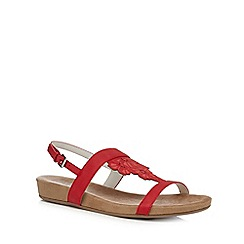 Good for the Sole - Red 'Giacinta' wide fit ankle strap sandals
