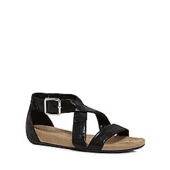 Good for the Sole - Black 'Giselle' wide fit ankle strap sandals