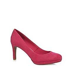 The Collection - Pink suedette high heel court shoes