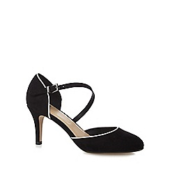 The Collection - Black suedette high heel court shoes