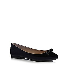The Collection - Black patent ballet pumps