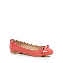The Collection - Pink patent 'charlie' bow appliqu  pumps