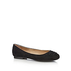 The Collection - Black suedette pumps