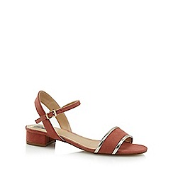 The Collection - Dark pink 'Caiden' mid block heel ankle strap sandals