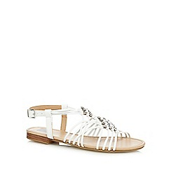 The Collection - White 'Christina' ankle strap sandals