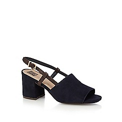 The Collection - Navy 'Chelsea' high block heel peep toe sandals