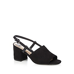 The Collection - Black 'Chelsea' high block heel peep toe sandals
