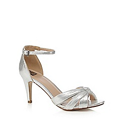 The Collection - Silver textured knot high sandals