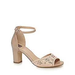 The Collection - Natural high block heel ankle strap sandals