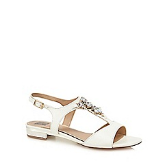The Collection - White diamante 'Cami' ankle strap sandals