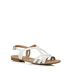 The Collection - White 'Charm' ankle strap sandals