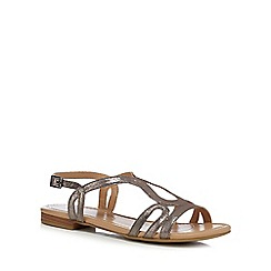 The Collection - Silver 'Charm' ankle strap sandals