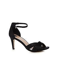 The Collection - Black high heel ankle strap sandals
